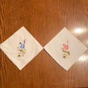 Vtg embroidered handkerchiefs